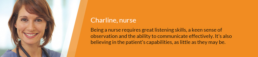 testimony of Charline, Nurse